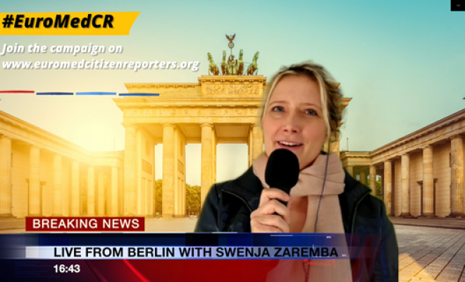 Breaking News on EuroMed Citizen Reporters_Swenja Zaremba in Berlin