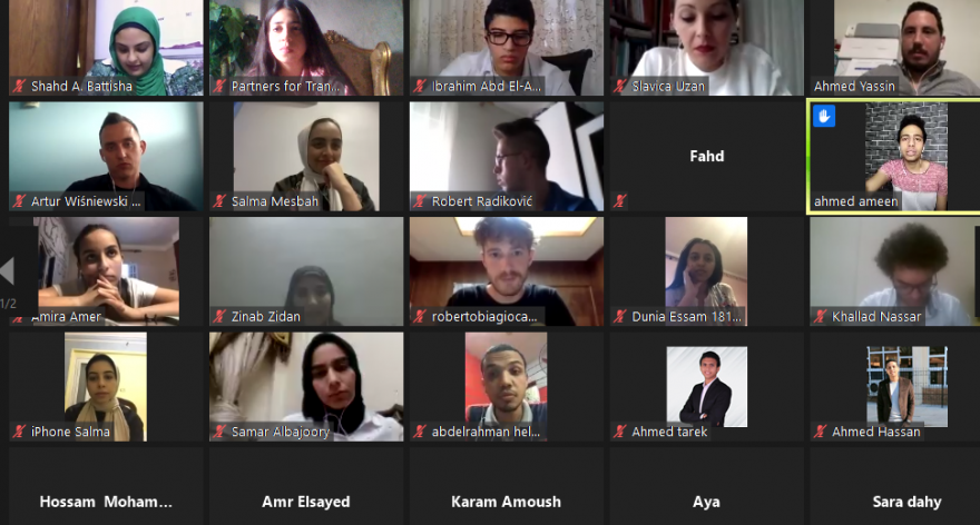 The Egyptian Network  of Anna Lindh foundation held a multi-country youth debate on Digitization businesses after the covid 19 pandemic